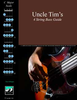 Uncle Tim's 4 String Bass Chords and Scales