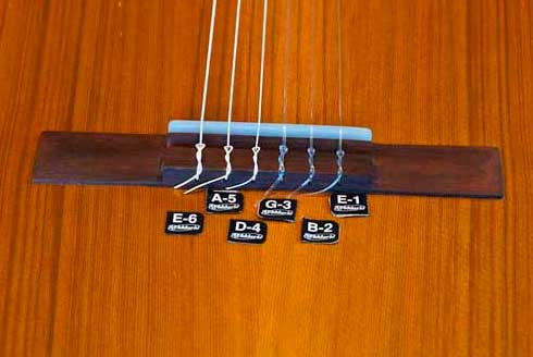 Bridge on a classic guitar