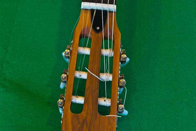 Tuning pegs on a classic guitar