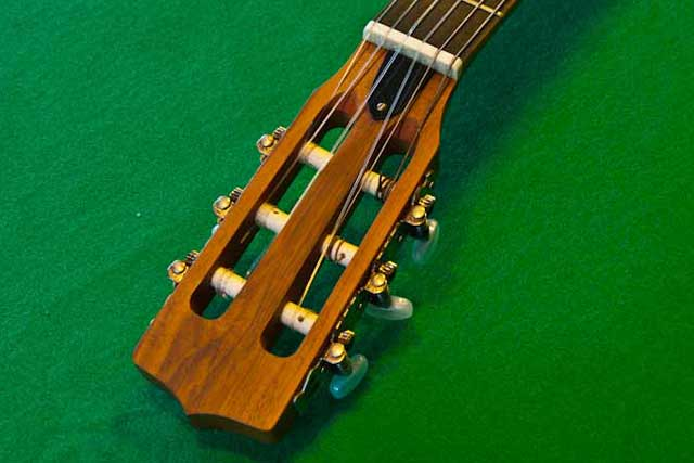 The classic guitar headstock